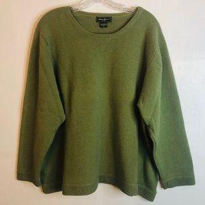 Eddie Bauer Soft Green Crewneck Sweater